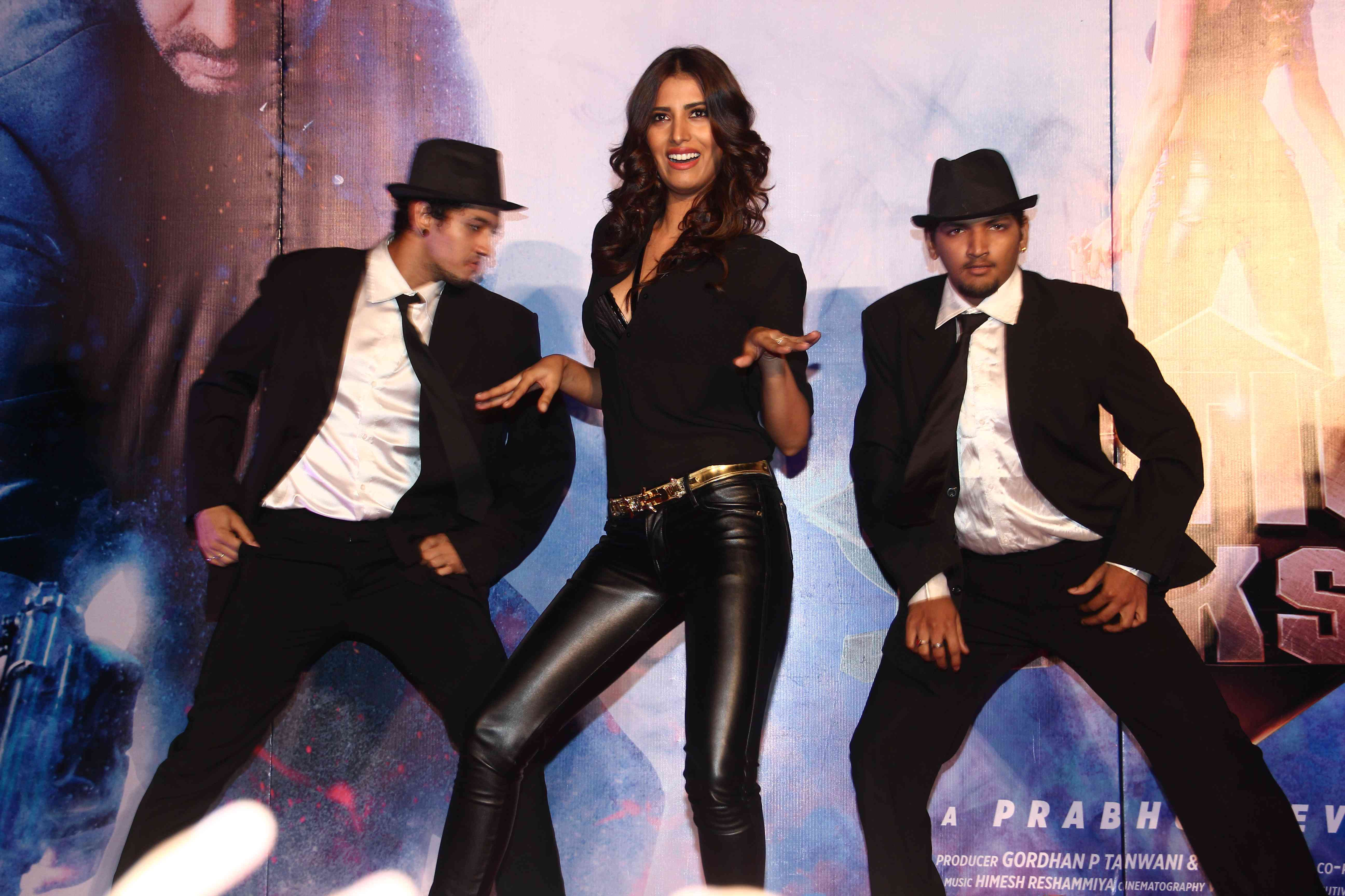 Manasvi Mamgai during her jig at the Gangster Baby song Launch