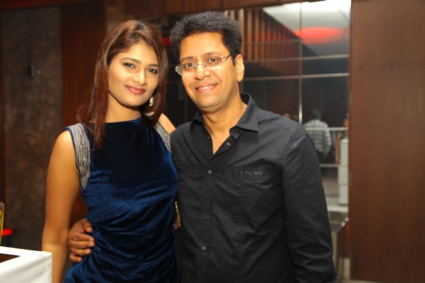 Bhavika Desai with Anand at B'day Bash