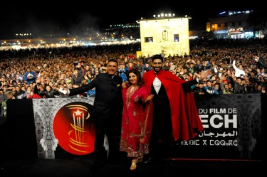 Film Happy New Year team at Jemaa El Fna Square at the 14th Marrakech International Film Festival (2)