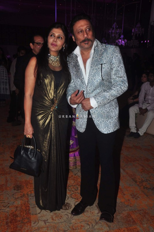 Jacky Shroff at Uday Singh and Shirin recepetion Party