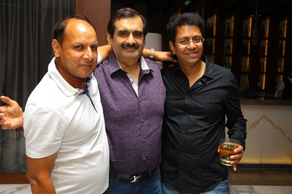 Kuldeep Gupt, Manish Goswami with Anand at B'day Party