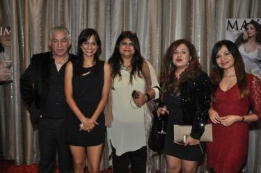 L-R, Dalip Tahil, Nisha Harale,Sonia Desai, Vandana Sajnani Khattar,Natasha Singh at Kamasutra Miss Maxim 2015 event