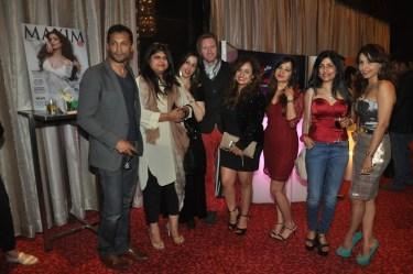 L-R, Diwakar Pundhir, Sonia Desai,Shipra Malhotra ,Alex O'Neil, Vandana Sajnani Khattar,Natasha Singh,Shibani Kashyap and Madhu Sajnani at Kamasutra Miss Maxim 2015 event