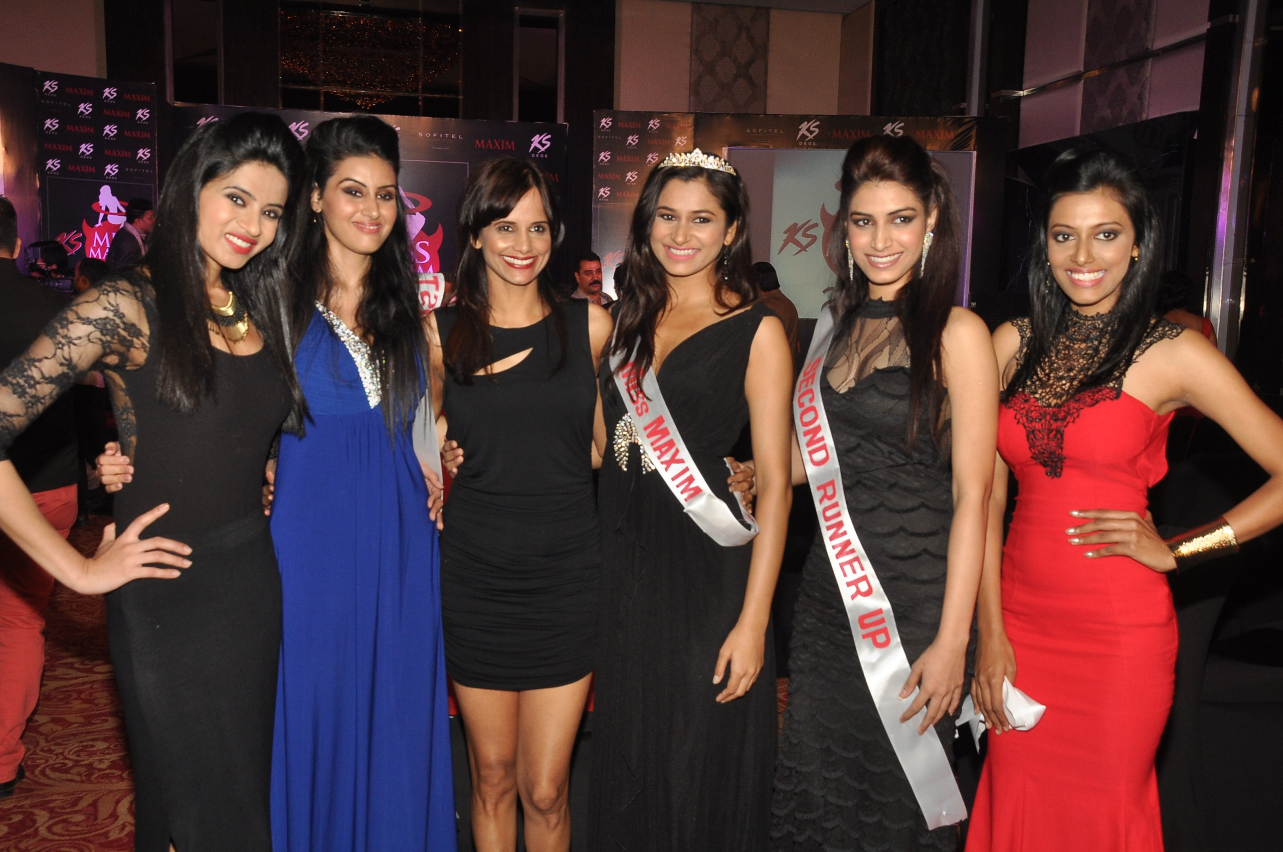 Nisha Harle with Winners of KS Miss Maxim