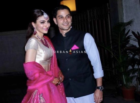 Soha and Kunal at the reception
