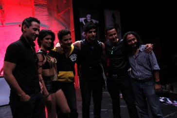 Ganesh Hegde with Meet brothers, Zayed Khan,Tena Desae and director Gurmeet Singh