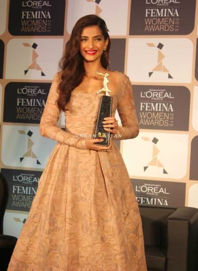 Sonam Kapoor during the announcement of the 4th edition of L'Oreal Paris Femina Women Award 201