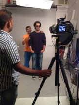Barun behind the scenes