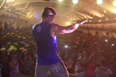 Beto Perez showcases Zumba moves to a sea of 1200 plus people