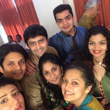 Drashti during her haldi ceremony