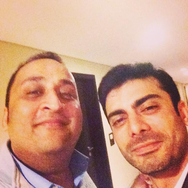 Fawad Khan with the event manager