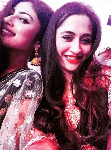 Mouni and Sanjeeda