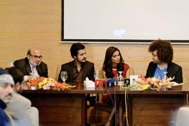 Press Conference - Naveed Mehmood, Kamran Faiq, Amna Ilyas, Michael Hudson (1)