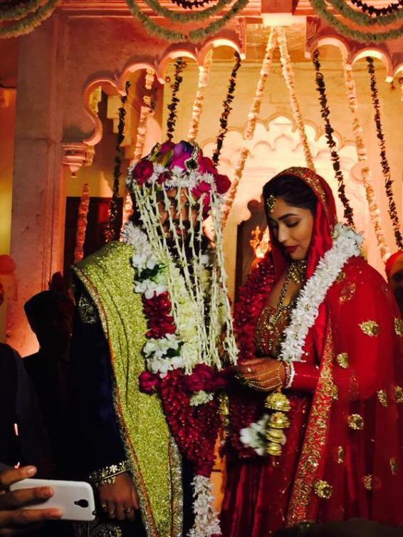 The happy couple, Rajat Tokas and Srishti Nayyar