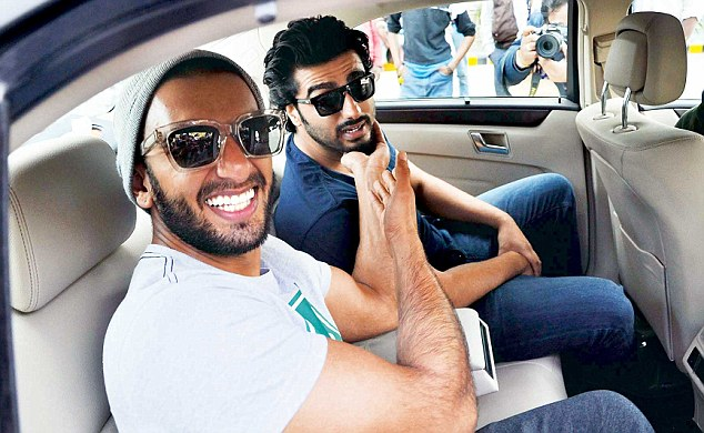 Ranveer and Arjun as they arrive to the wedding
