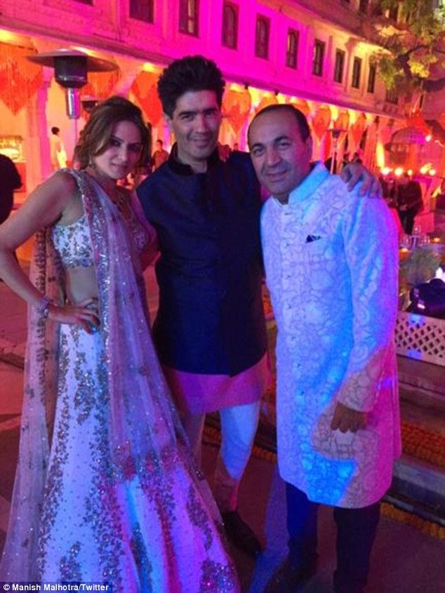 Anu Mahtani, Manish Malhotra and Sanjay Hinduja