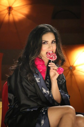 Sunny Leone with the Candies