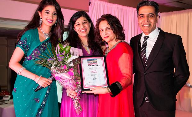 2014 Winner of Sport category Mumtaz Khan presented by Adeeba Malik MBE