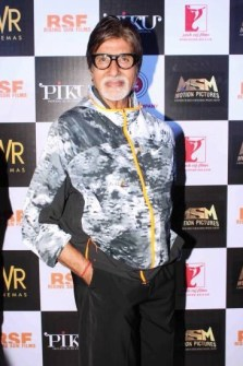 Bollywood actor Amitabh Bachchan during the trailer launch of film PikuBollywood actor Amitabh Bachchan during the trailer launch of film Piku