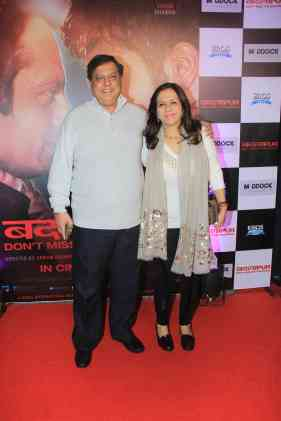 David Dhawan and Karuna Dhawan at the success bash of Badlapur at sofitel bandra (6)