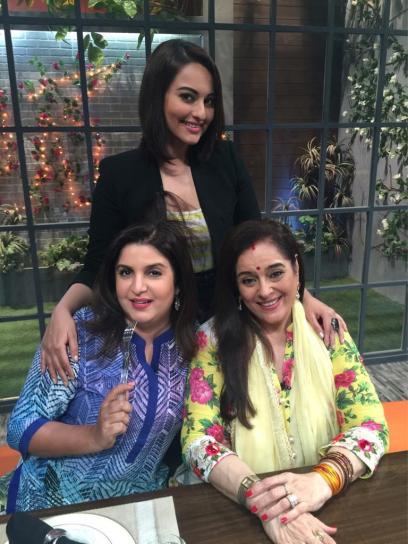 Farah Khan, Sonakshi and Poonam Sinha