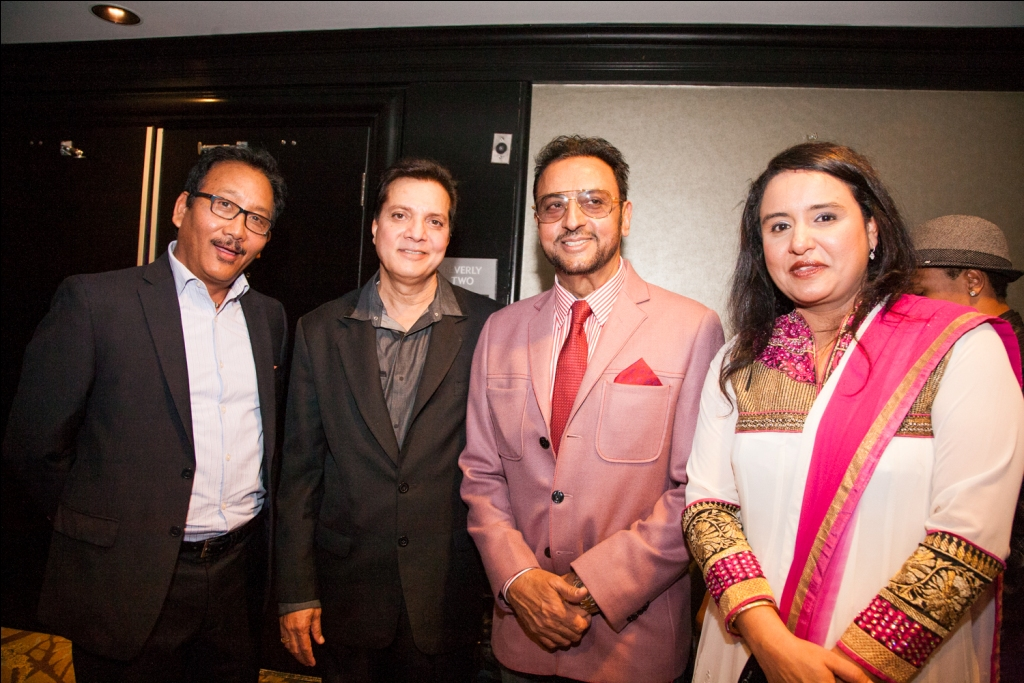 Jatin Pandit,Gulshan Grover and Kainaz Pandit attended the launch party of Miss Duniya Global Pageant 2015, Los Angeles, California