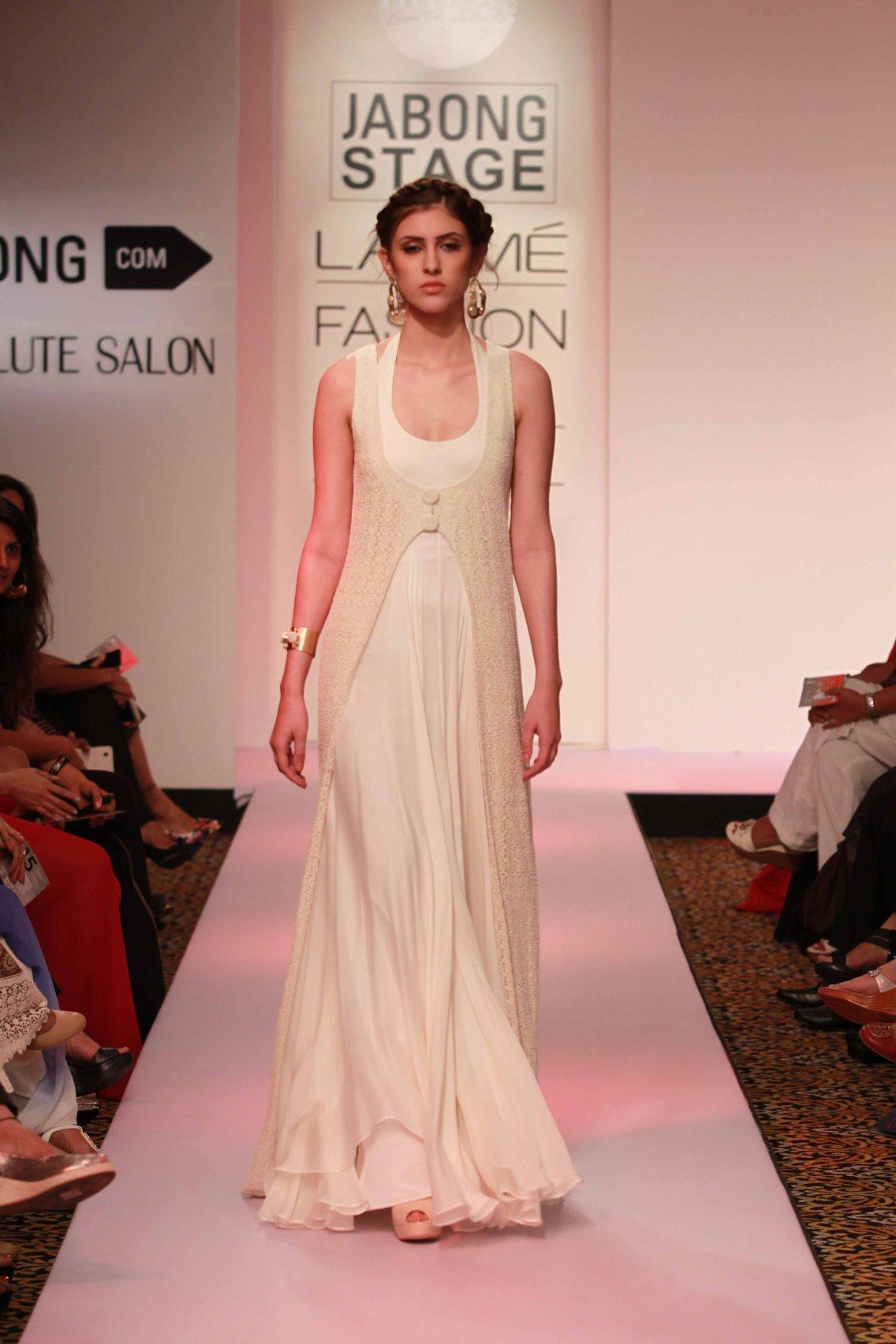 Model walks for RRISO by Sonu Dharnidharka at Lakme Fashion Week SR 15