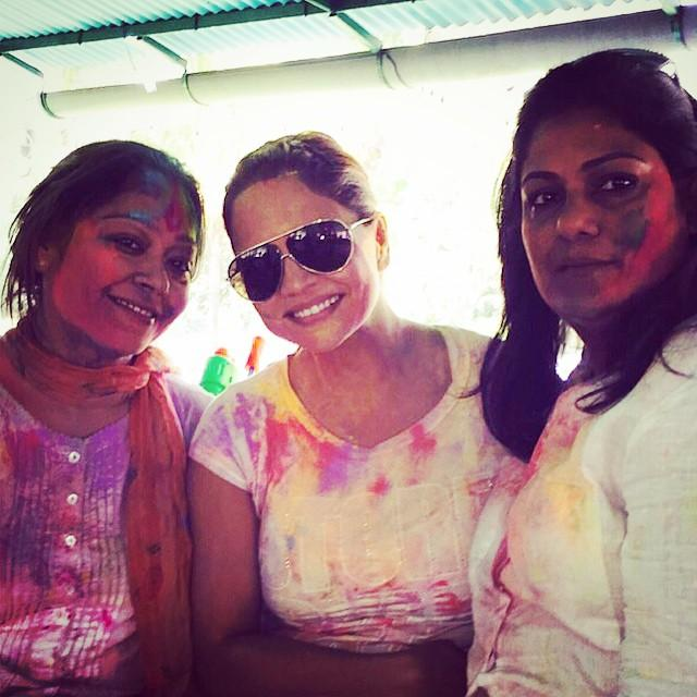 The Khans' Holi party