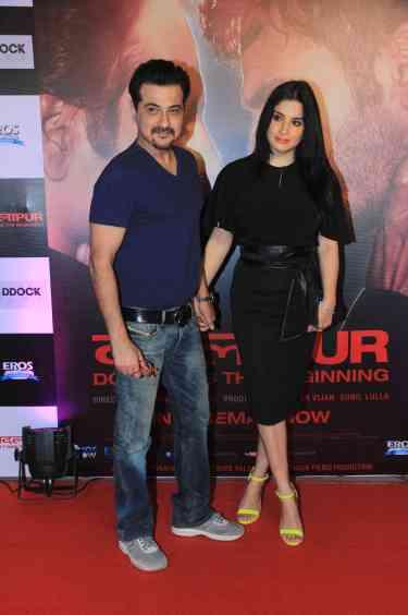 Sanjay Kapoor and wife at the success bash of Badlapur at sofitel bandra (29)