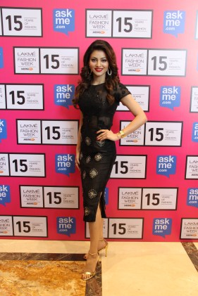 Urvashi Rautela in Designer Pallavi Singhee creation at Lakme FASHION Week