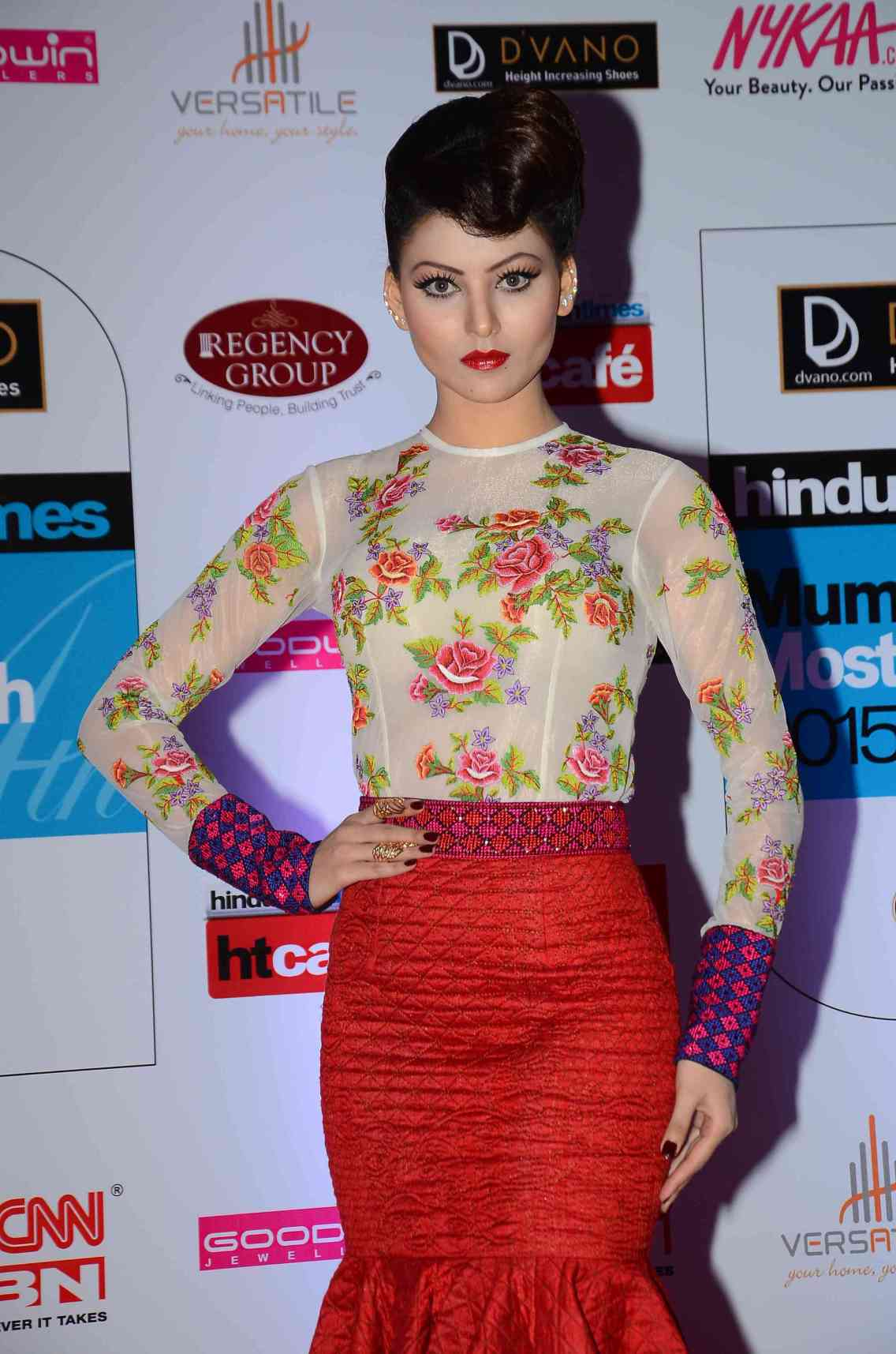 Urvashi Rautela in Neha Agarwal designs at HT Style Awards