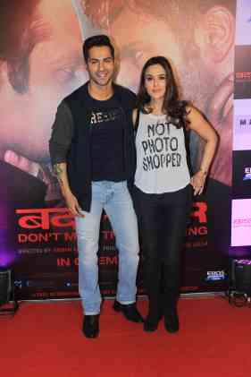 Varun Dhawan and Preity Zinta at the success bash of Badlapur at sofitel bandra (19)