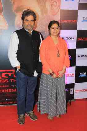 Vishal Bharadwaj and Rekha Bharadwaj at the success bash of Badlapur at sofitel bandra (11)