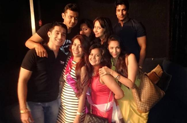 Ankita with friends