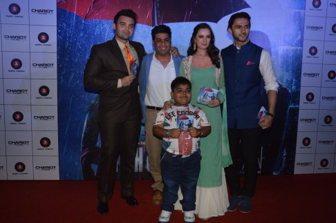 Cast of the film with producer Rajesh Banga