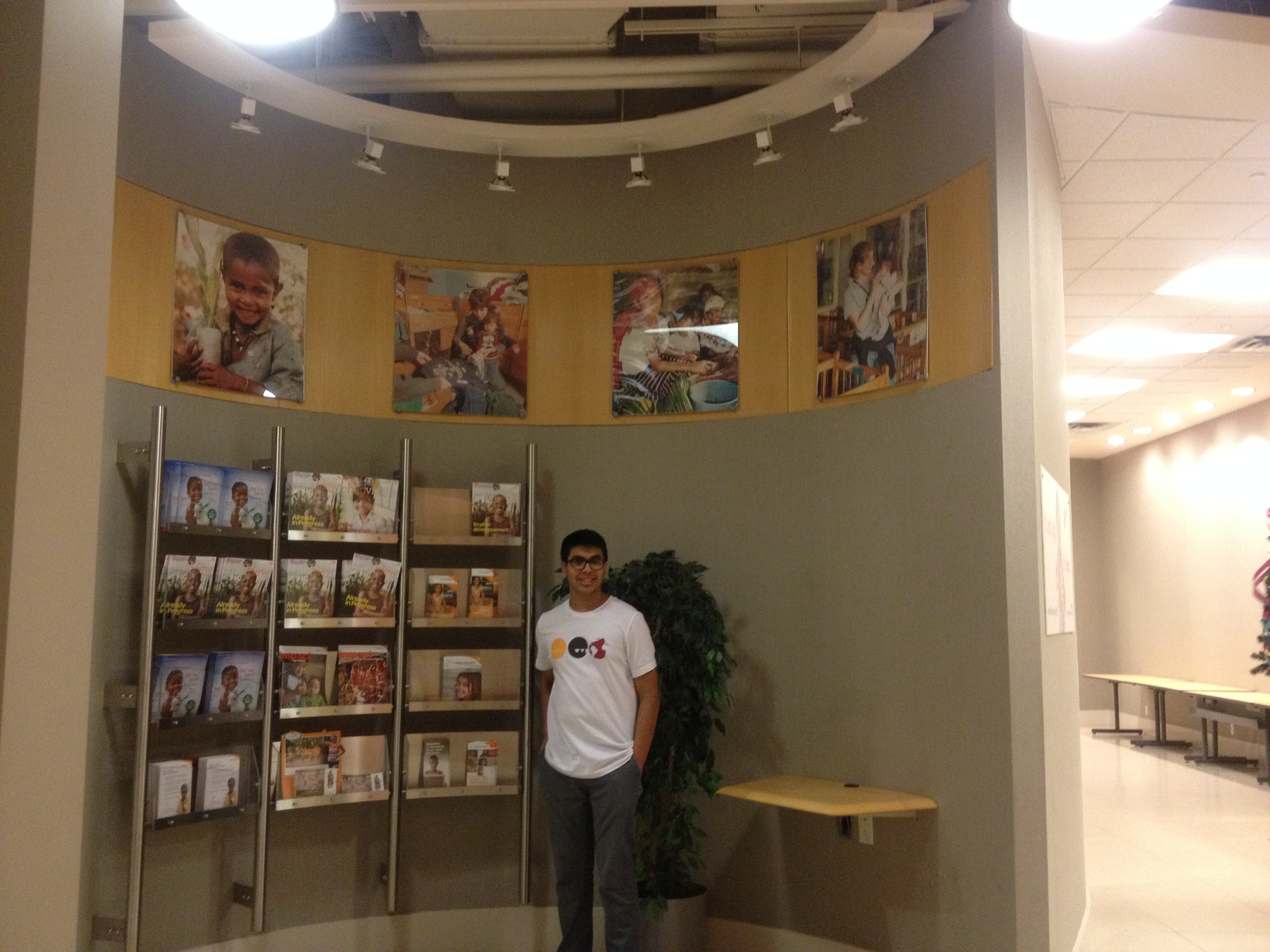 Harnoor Gill is volunteering at the World Vision Canada headquarers in Mississauga, Ontario