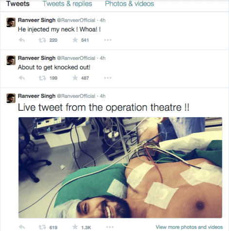 Ranveer Singh Live Tweet Screen shot 2015-04-04 at 3.41.58 AM