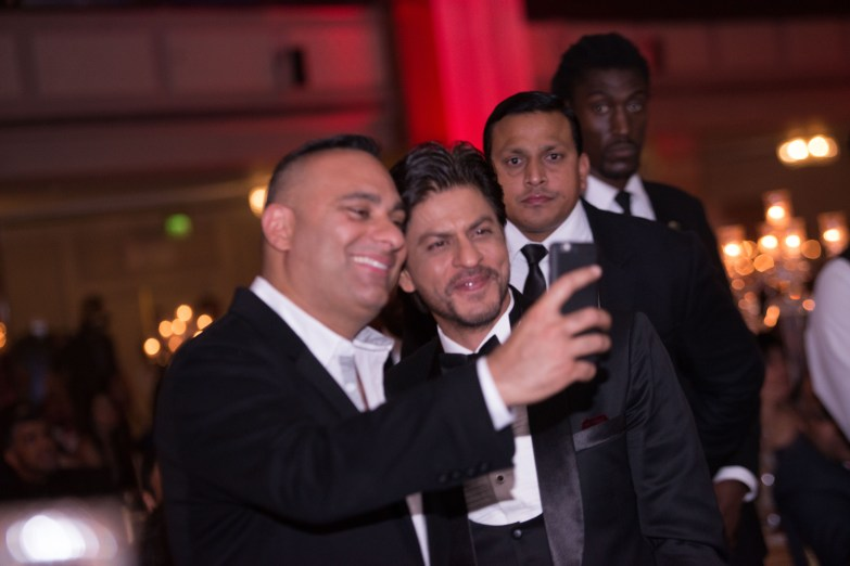 SRK and Russel take a selfie - (Photo Credit Javed&Mizan)