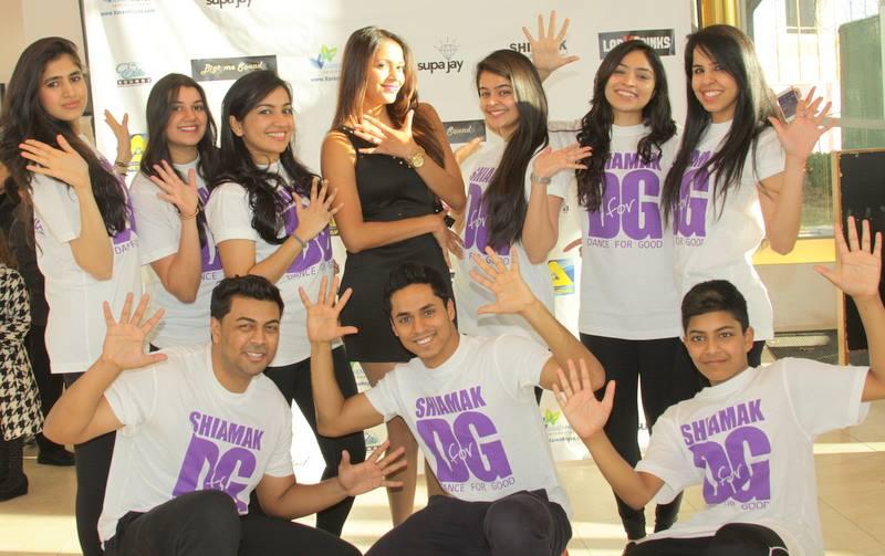 Senior Manager Deeba Patel with SHIAMAK D4G Dance Team