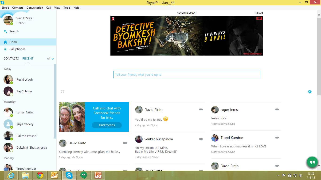 Detective Byomkesh Bakshy Skype web