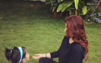 Twinkle Khanna with her little one