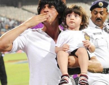 abram and daddy Shah Rukh Khan