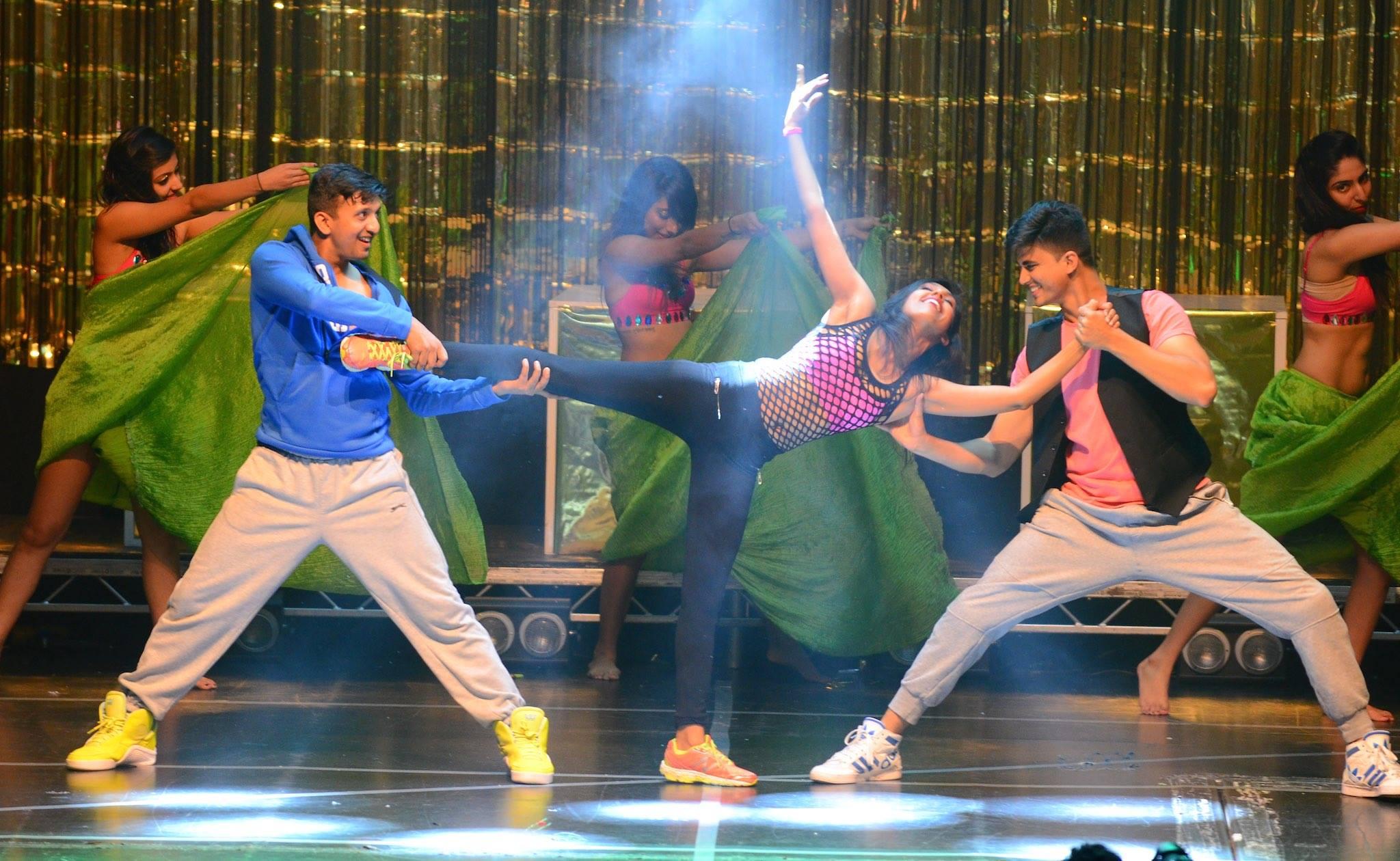 Senior Instructors Shruti Shah, Rohan Shah & Anupam Hinge performing Hip – Hop with The SHIAMAK Dance Team – London.