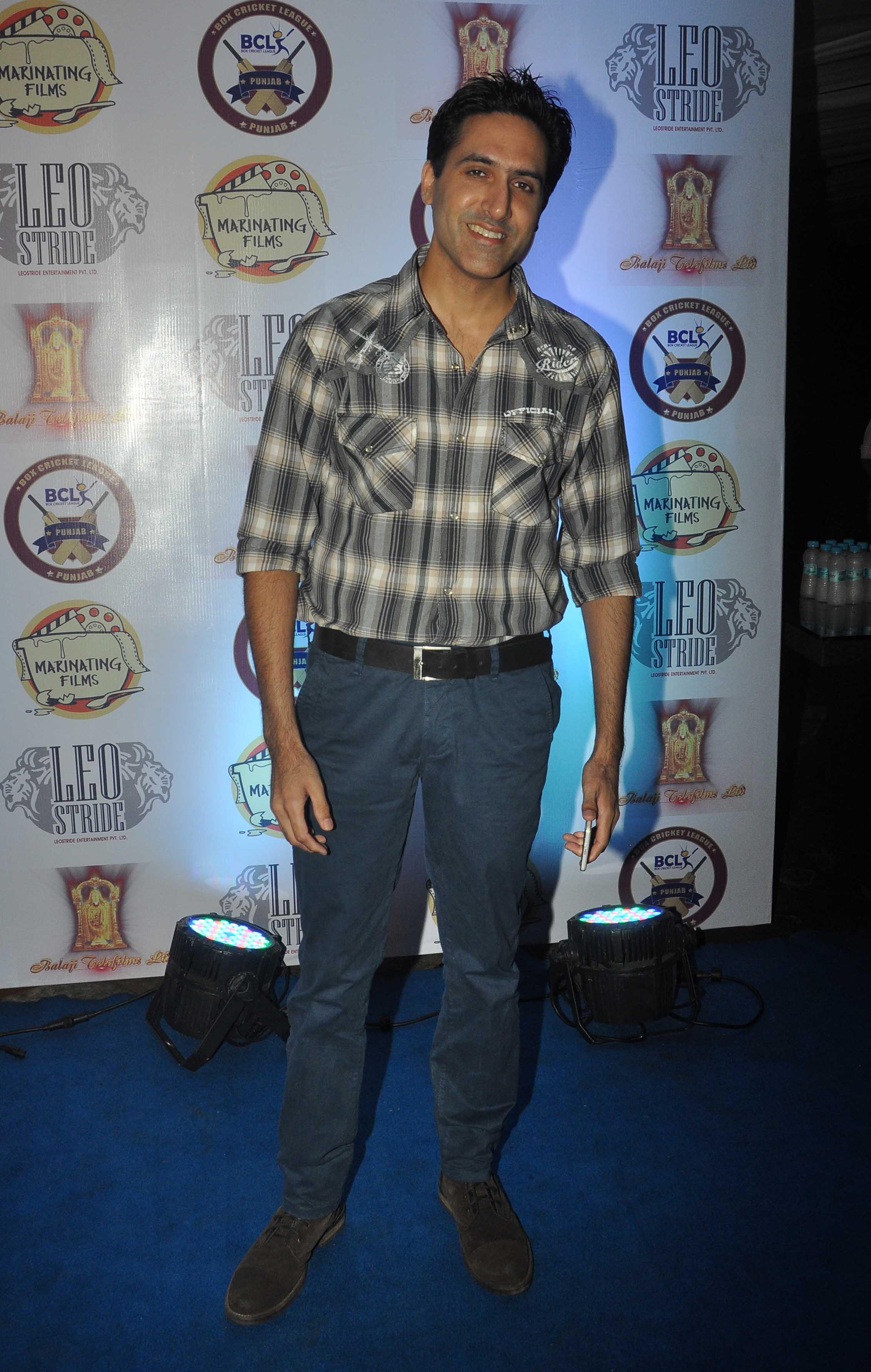 Sumeet Sachdev at Punjab Cricket Launch