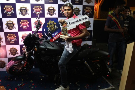 The champion of Ride Home A Harley, Mr. Dev Naikare