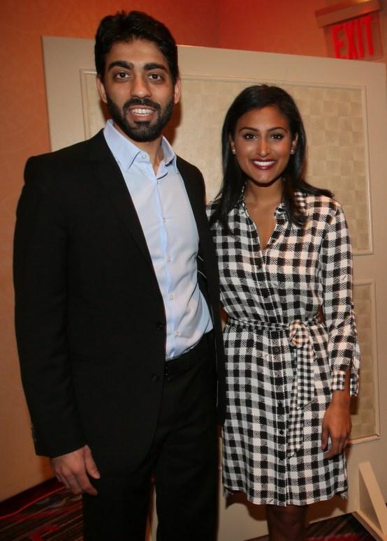 Dhruv Marwaha with Nina Davuluri