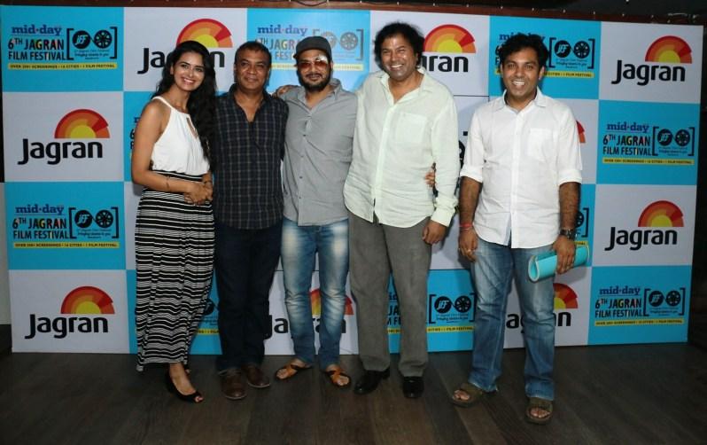 Meenakshi Dixit, Vipin Sharma, Mukesh Chabbra, Manoj Srivastava (Strategic Consultant, Jagran Film Festival) & Vibhu Puri at 6th Jagran Film Festival