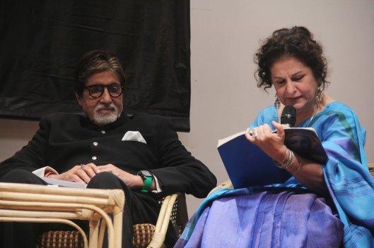 Amitabh Bachchan and co editor Syeda Hameed