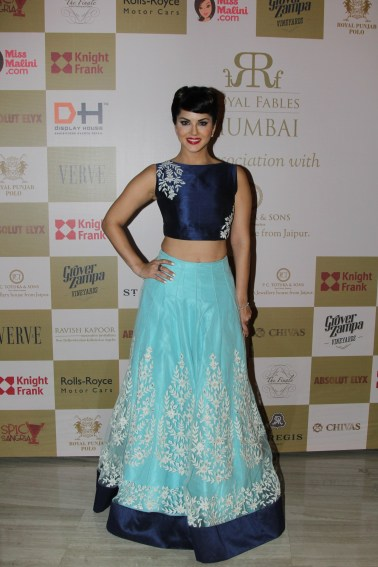 Actress Sunny Leone at Royal Fables, Mumbai