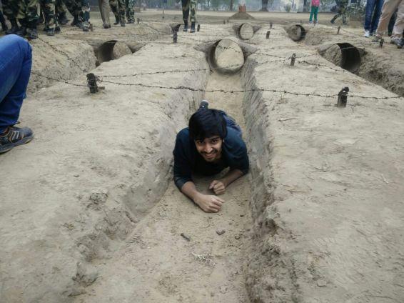 Shivam Patil training at BSF Camp